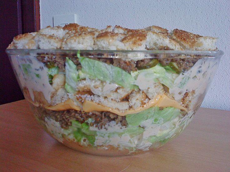 ber ideen zu big mac salat auf pinterest big mac schichtsalat und salat. Black Bedroom Furniture Sets. Home Design Ideas