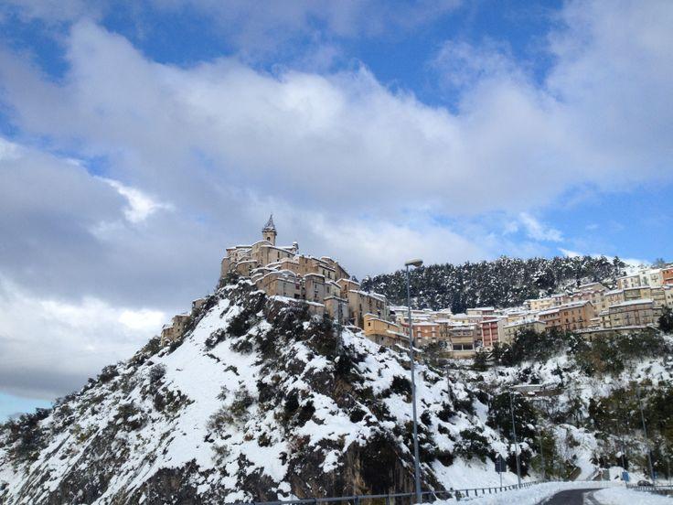 Colledimezzo innevata - snow in Colledimezzo. Landscape 1