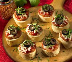 José Olé Chimi Pizza Wheels. Quick and easy #recipe for authentic #MexicanFood. Click the pin to try it!