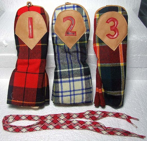 1950s Scotland Golf | ... Golf Club Head Covers Classic Plaid Colorful Scottish Style Patterns