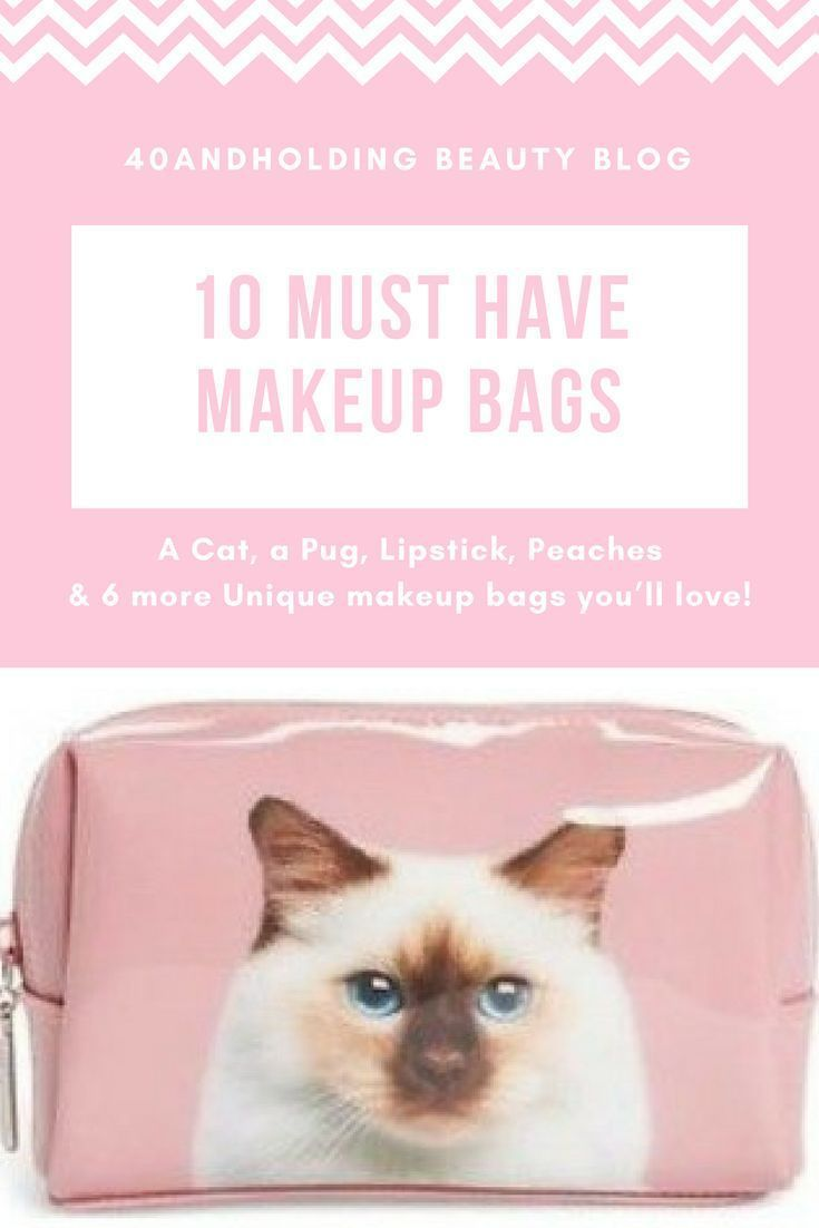 10 Must Have Makeup Bags! These unique cosmetic bags are both functional and stylish! From 40andholding Beauty Blog. #beautyblogger #makeup #cosmetics #accessories