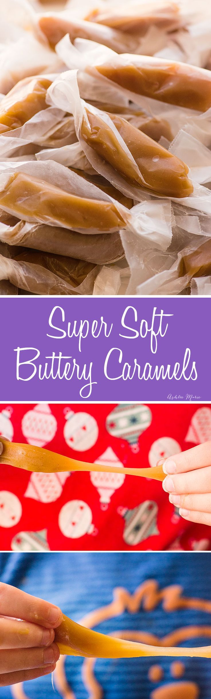 these soft butter caramels are made with brown sugar for a rich flavor and are super simple to make - full video tutorial