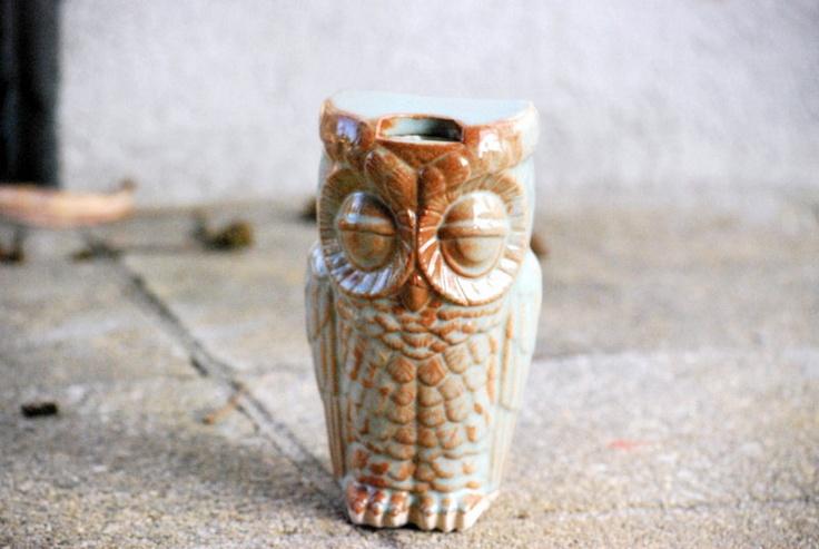 so cool! travel mug owl in pistachio green. $32.00, via Etsy.