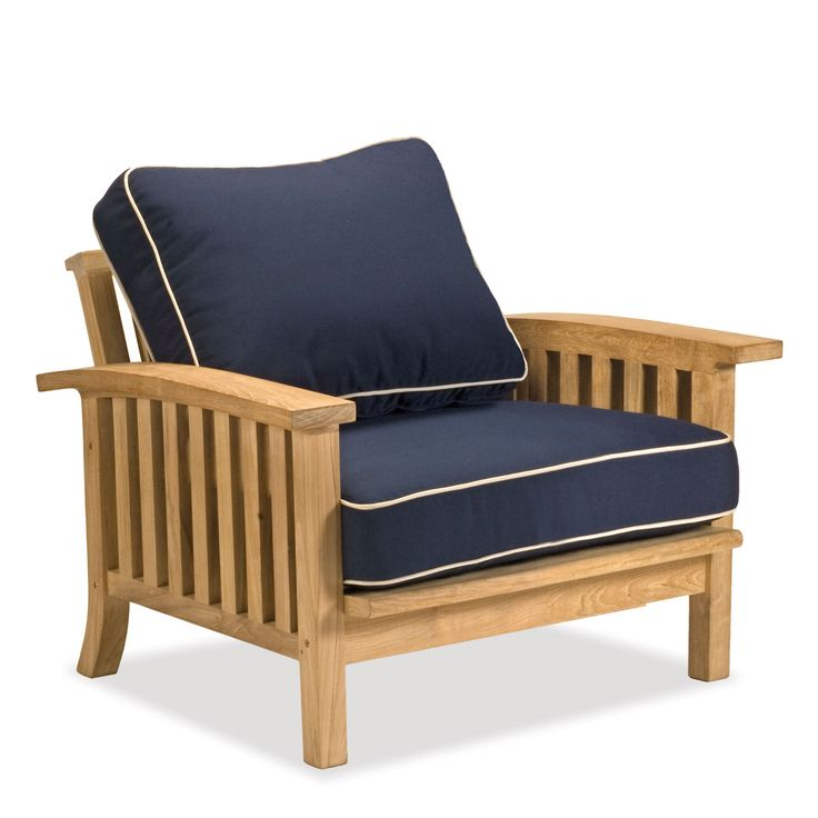 Teak Club Chair | 50+ Sunbrella Cushion Fabrics | Craftsman Collection