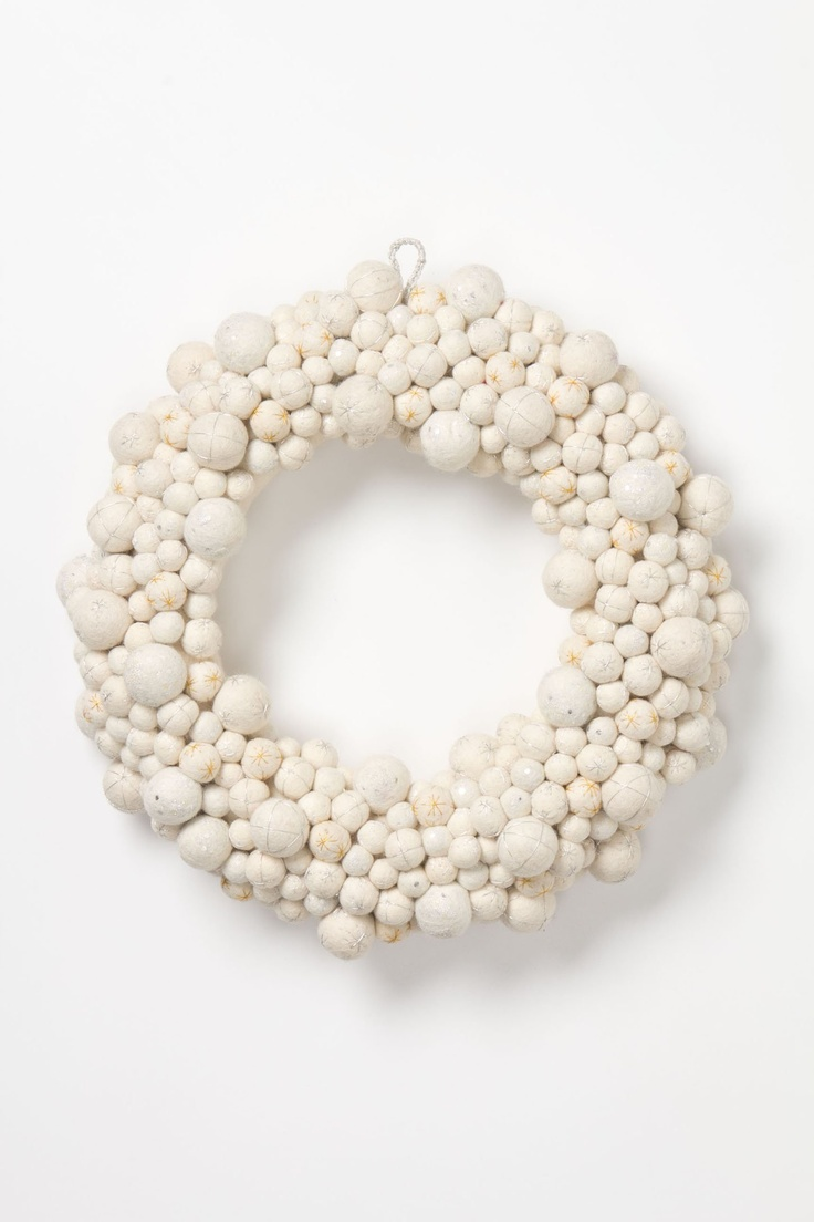 wreath, felted wool - anthropologie
