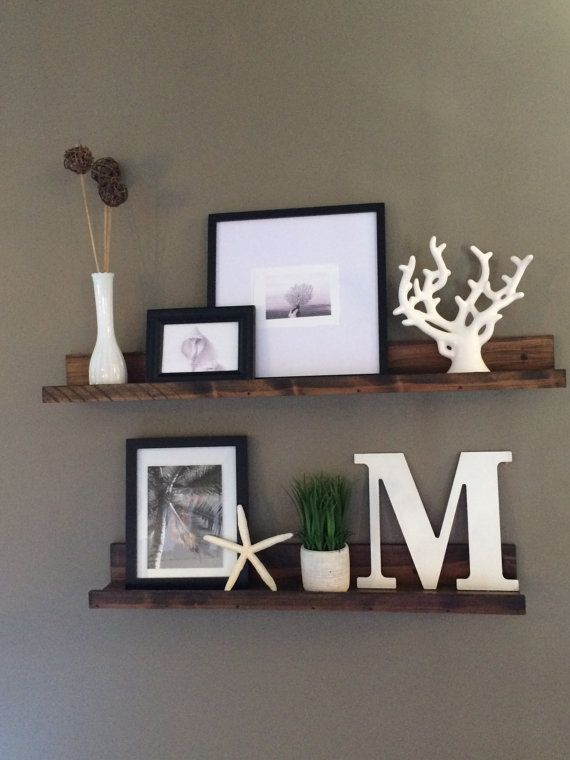 Shelf Rustic Wooden Picture Ledge Shelf Gallery Wall By Lovemade14 Part 60