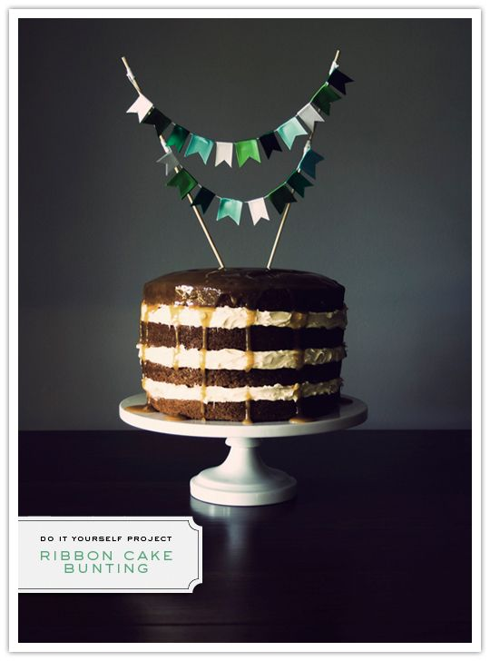 Perfect DIY project for a wedding or shower cake {or in my case, baby boy's first birthday cake}.