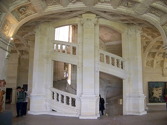 Fresh Da Vinci us double helix staircase in Chambord France The king can go down