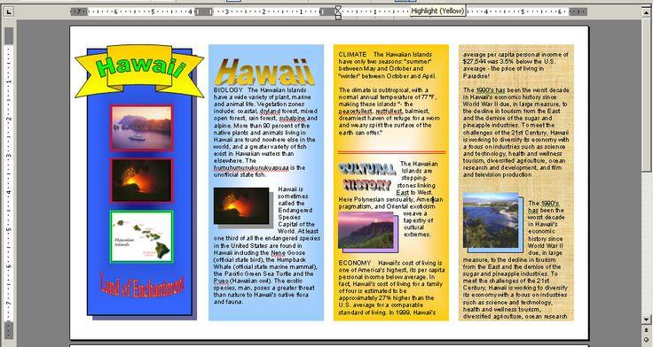 Travel brochure: Teacher