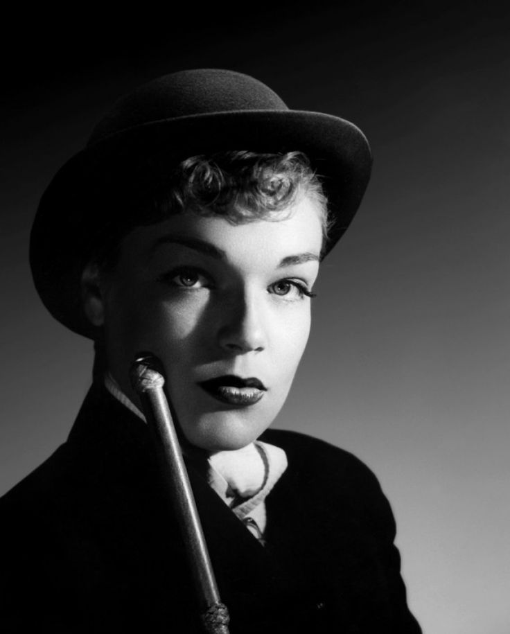 """Portrait of Simone Signoret in """"Manèges"""" directed by Yves Allégret, 1950"""