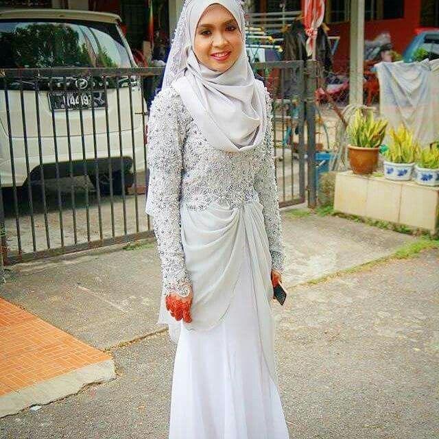 Wedding Nikah Simple Backdrop Decoration Muslim: Muslimah Wedding Dress, Simple Wedding