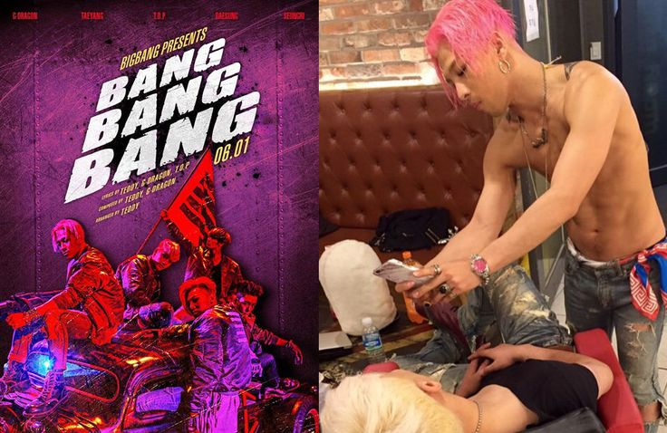 "Taeyang posts a photo of a sleeping Seungri plus more behind-the-scenes takes from ""BANG BANG BANG"""