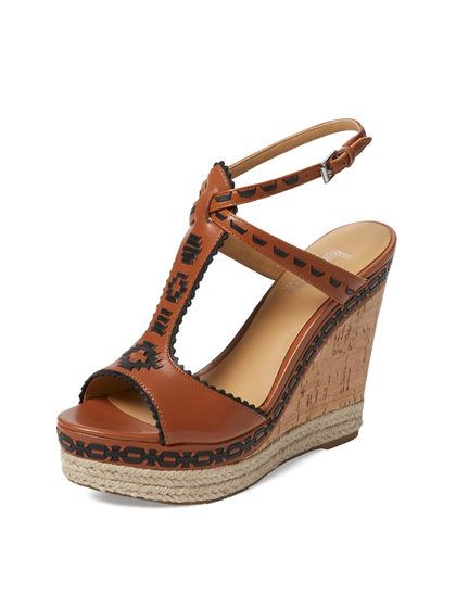 Aivi Wedge Sandal by Belle by Sigerson Morrison at Gilt