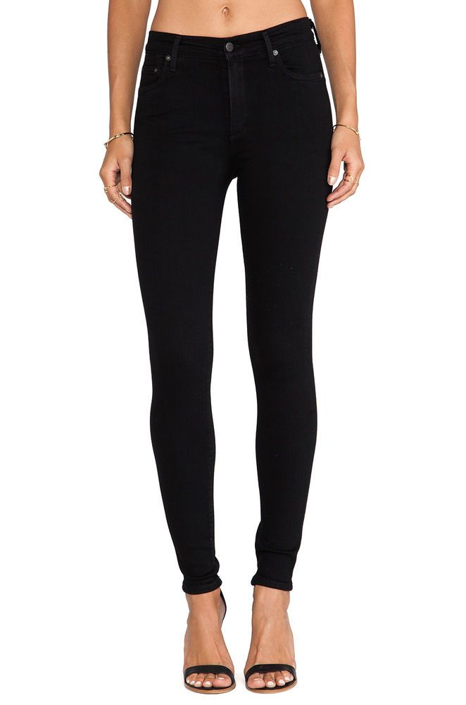 NEW Citizens of Humanity Rocket High Rise Skinny Super Stretch in Axel Black 25…