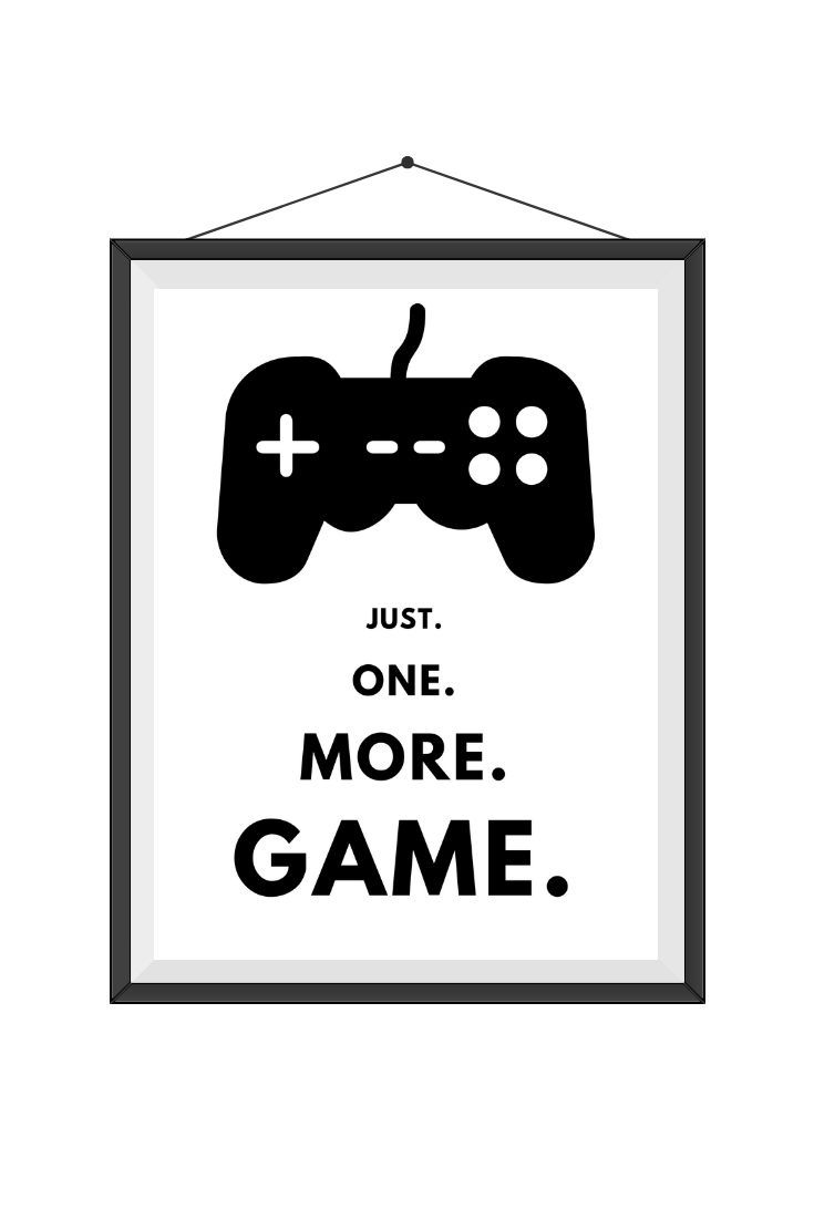 Gifts for Gamer / Gifts for Boyfriend / Nerd Gifts / Geek Gifts / JustOneMoreGame-Console