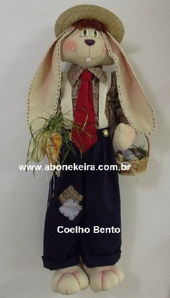Coelho Bento de A Bonekeira: Coelho Bento, Cloth, Bento De, Brazilian Dolls, Boneca De