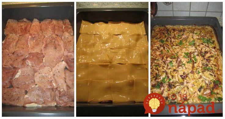 Obed nielen pre poriadnych chlapov, ale aj pre všetkých, ktorí obľubujú sýte a chutné jedlo, ktoré pripravíte pohodlne a rýchlo na jednom plechu. Je to delikatesa, vyskúšajte!