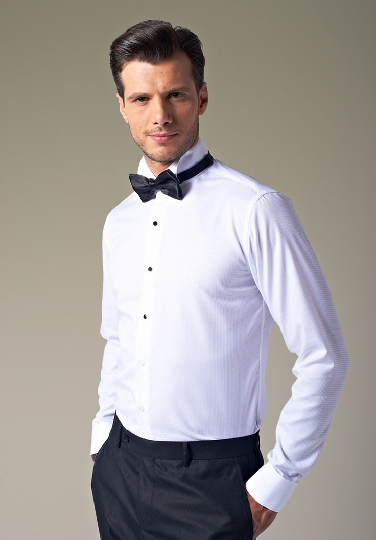 White Chic Tuxedo Shirts For Men Upunique Pinterest