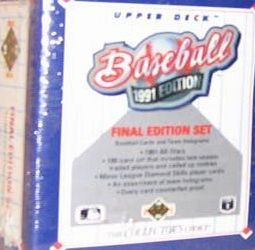 Upper Deck 1991 Upper Deck Baseball Final Edition Trading Card Factory Set 1991 Upper Deck Baseball Final Edition Factory Set. This rare set contains 100 cards. Some of the players pictures in this set are rookies of Ryan Klesko, Ken Lofton, Pe (Barcode EAN = 0053334110037) http://www.comparestoreprices.co.uk/latest2/upper-deck-1991-upper-deck-baseball-final-edition-trading-card-factory-set.asp