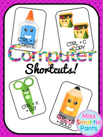 This product is a computer shortcuts display that will allow students and teachers to remember the easy short cuts on the computer and eliminate getting lost in menus and files!