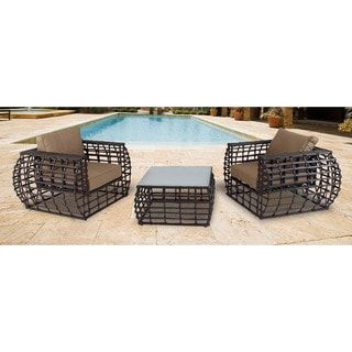 Shop for Hanover Outdoor Soho Tan Wicker Outdoor 3-piece Lounge Set. Get free delivery at Overstock.com - Your Online Garden & Patio Shop! Get 5% in rewards with Club O! - 18936050