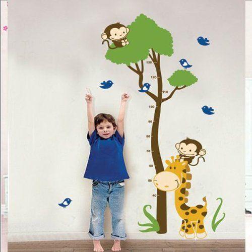 BestOfferBuy - Adesivo Sticker Murale Giraffa con Grafico di Crescita per Bambini JM7132