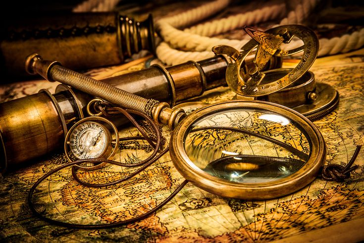 Cadi — «Vintage magnifying glass lies on an ancient world map» на Яндекс.Фотках