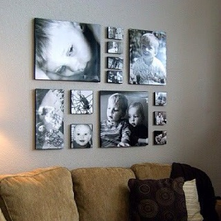 Another living room idea...as a photographer,  this is a must do!!!
