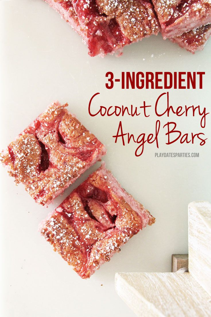 It's all about wowing your guests with the least amount of work possible, and these 3-ingredient coconut cherry angel bars will do just that.