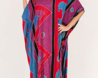 Caftano lungo, Dress Plus Size, caftano, abito Hippie, Batik Sundresss, tunica, formato libero, estate kaftan, spiaggia Cover Up, Beach Wear, Boho vestito.