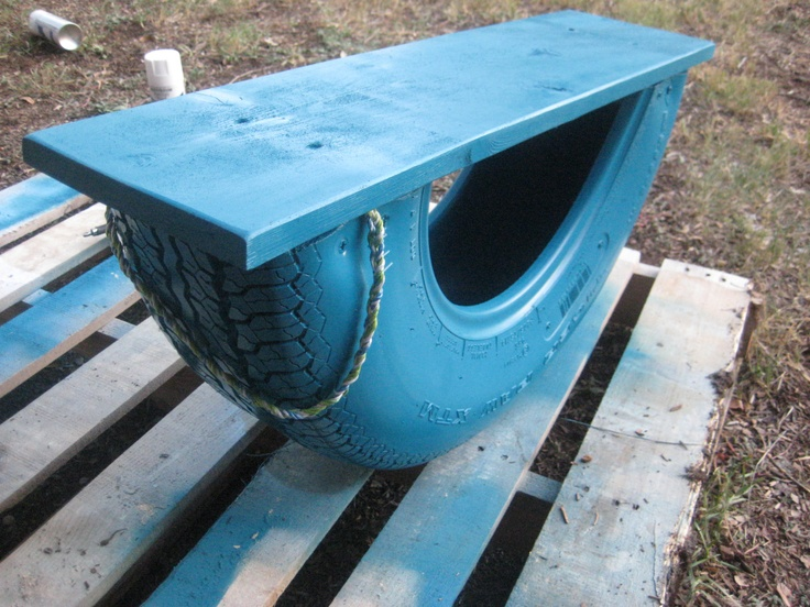 DIY: Recycled Tire Rocker (aka Tire Teeter Totter)   sweet teal. the shop. I know a tire guy