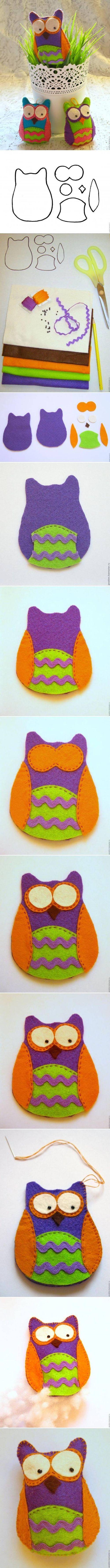 DIY Felt Owl diy craft crafts craft ideas easy crafts diy crafts easy diy kids crafts kids diy easy craft diy sewing kids craft sewing ideas sewing idea diy idas sewing crafts