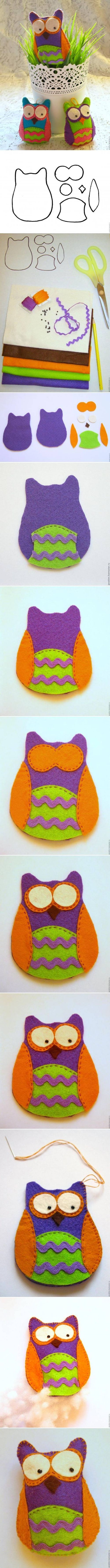 DIY Felt Owl diy craft crafts craft ideas easy crafts diy crafts easy diy kids crafts kids diy easy craft diy sewing kids craft sewing ideas sewing idea diy idas sewing crafts