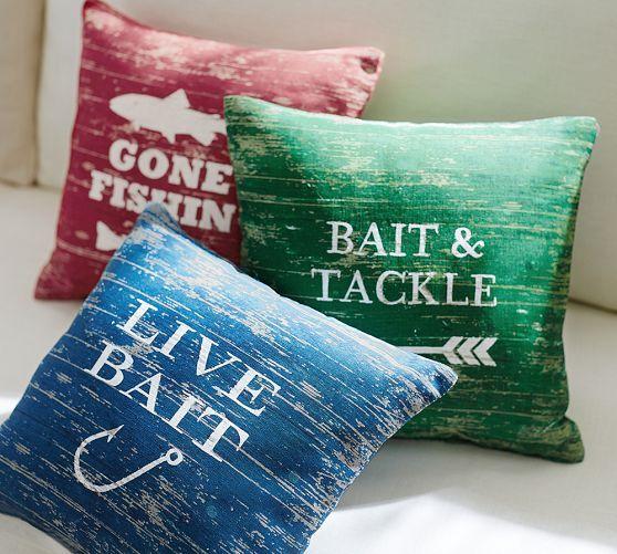 Gone Fishing Pillow   Pottery Barn