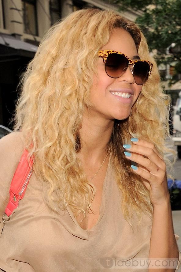 Beyonce Hairstyle 16inches Clip-in Remy Human Hair Blonde 100%Human Hair : Tidebuy.com