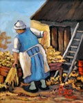 A rural scene by south african artist Bea Wolfaardt http://thedoddsgallery.co.za/artists/Bea%20Wolfaardt.html