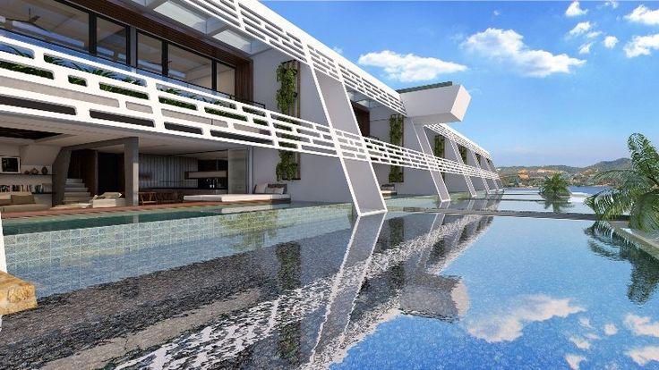 Каждая из вилл комплекса Aqua Samui имеет свой собственный кусочек земли, приватный бассейн и фантастический вид на воды Сиамского залива. Дизайн виллы выполнен в стиле модерн с использованием высококачественных отделочных материалов. Границы между экстерьером и интерьером вилл соединяются обширным использованием остекления пространства и слияния с водой. Открытые планы кухни, обеденной зоны и гостиной, сливающейся с бассейном создают эффект обширного пространства и бесконечности