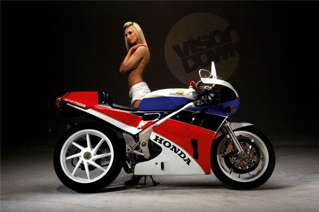 1990 Honda RC30.  Just about the coolest sport bike of all time.  Worth about 30K now.