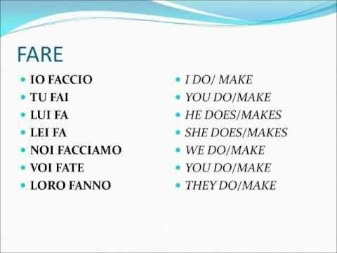 Verbi italiani irregolari - DARE (dati - to give)