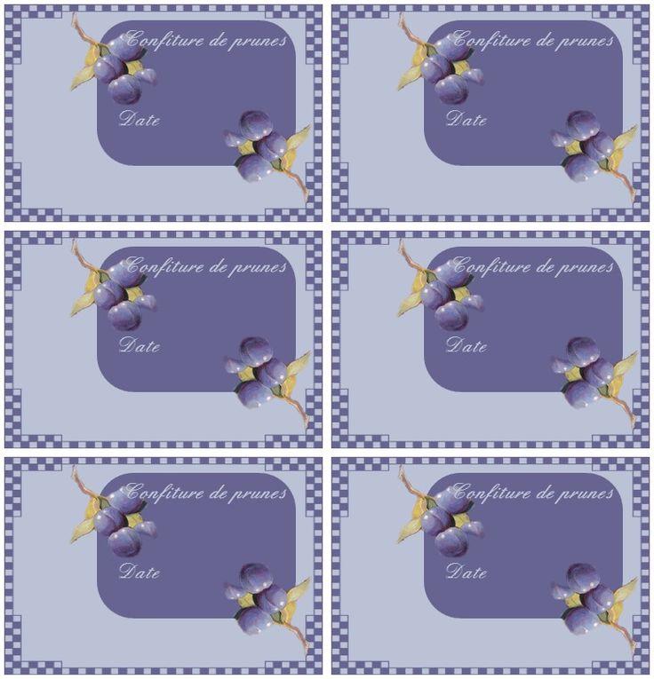 Célèbre 47 best Etiquettes de confiture à imprimer (sur papier couché  SS81