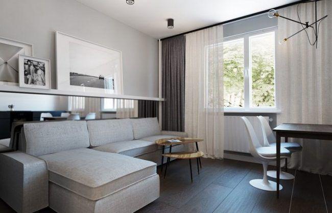 wohnungseinrichtung-ideen-wohnzimmer-essbereich-graues-ecksofa ...