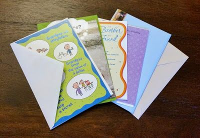 Use a journal to write all your Father's Day card messages (and birthday and Christmas cards) - from agamerswife.com