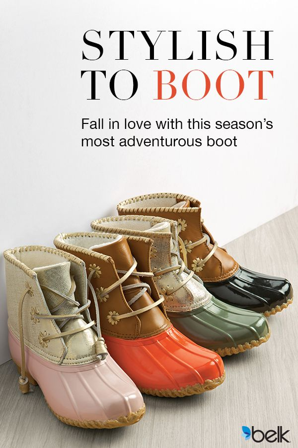 Elevate your cool-weather collection with this classic Jack Rogers duck boot. Designed with whip lacing and a comfortable fleece interior, this super sleek pair is perfect for stepping out in style. Fall in love with this season's most stylish boots at Belk.com.