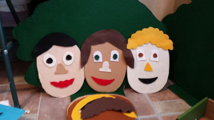 my felt faces, learning about ourselves and incorporating science and awareness of our bodies