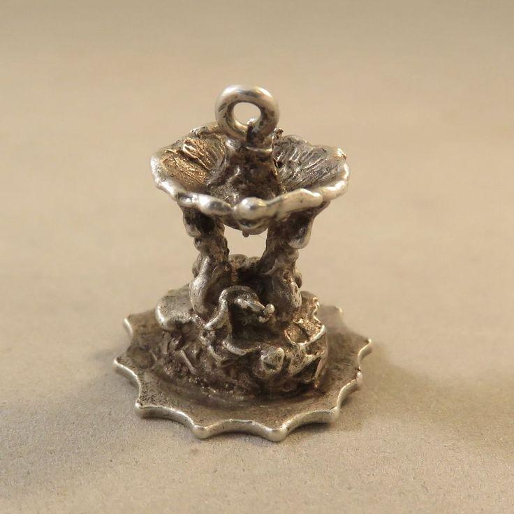 VINTAGE Silver 3-D TEMPLE OF VESTA FOUNTAIN CHARM Tivoli Roman Forum Italy VT92D  | eBay