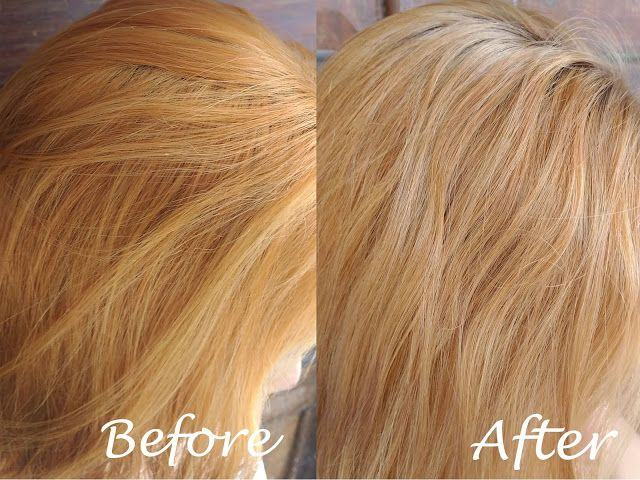 Diy Hair Toner From Brassy Hair To Ash Blonde Hair Brassy Hair Diy Hair Toner Toner For Blonde Hair