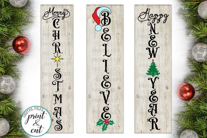 Available for free in svg, dxf, eps and png formats. Happy Holidays Vertical Signs Christmas Svg Files For Crafters Paper Party Kids Craft Supplies Tools Sultraline Id