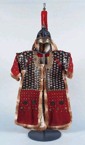 armour~Duseokrin armour(pronounced 'doo-suck  rin'). 'Duseok' originally meant hardended form of bronze, and 'rin' means 'scale' - so literally, it means 'bronze-scale armour', although military armour used iron or steel. Gold/bronze scales were used in ceremonial armour.
