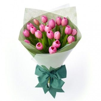 #Pink #tulips in a #handbouquet are perfect for your #girlfriend on her special day.