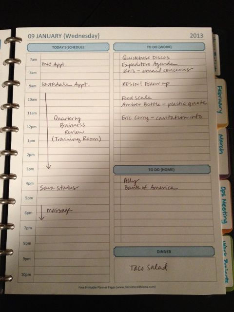 This is all I really need for daily planning. Hmmm....   planner page (go to link for a nutrition / activity tracker!)
